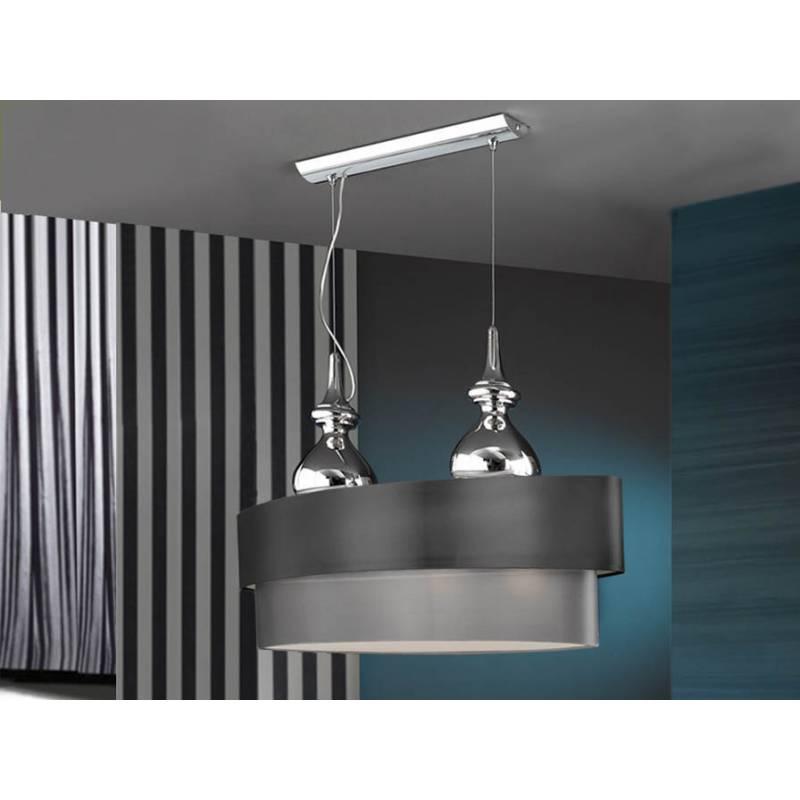 lampara colgante sophia 4 luces ovalada de schuller - Lamparas De Techo Colgantes