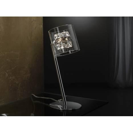 Sobremesa Flash 1 luz cristal facetado de Schuller