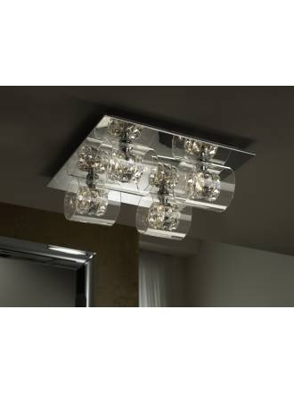 Schuller Flash ceiling lamp 4 lights