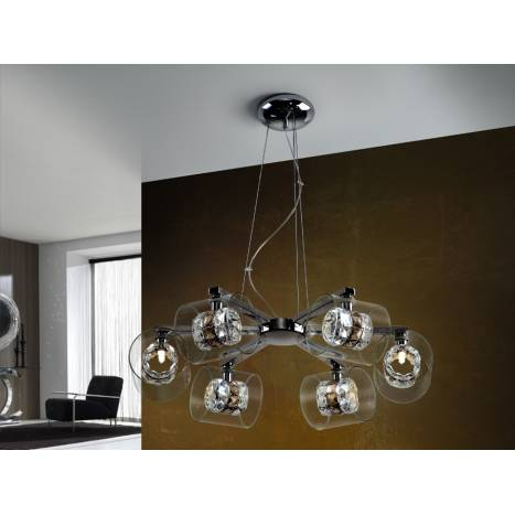 Schuller Flash pendant lamp 6 lights