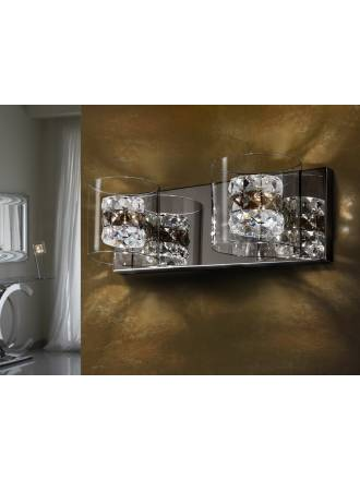 Aplique de pared Flash 2 luces cristal facetado de Schuller