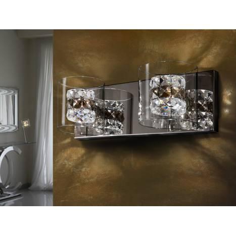 Aplique de pared Flash 2 luces cristal facetado de Schuller