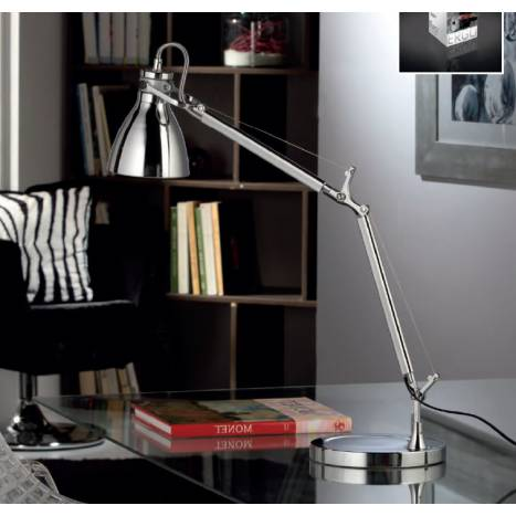 Schuller Ergo table lamp 1 light chrome
