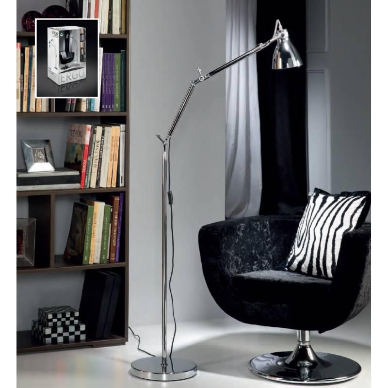 Schuller Ergo floor lamp 1 light  chrome