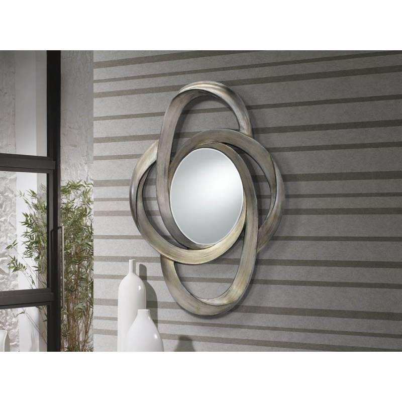 Espejo de pared galaxia pan de plata schuller for Decoracion con espejos en paredes