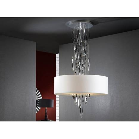 SCHULLER Domo pendant lamp 4 lights white