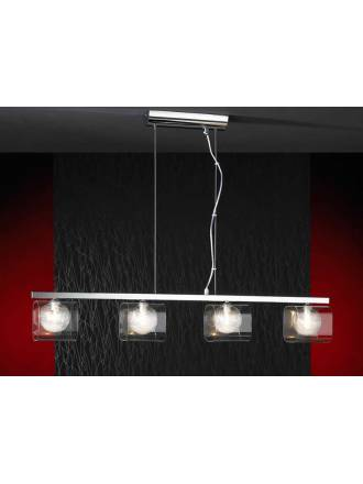 SCHULLER Eclipse pendant lamp 4 lights bright chrome