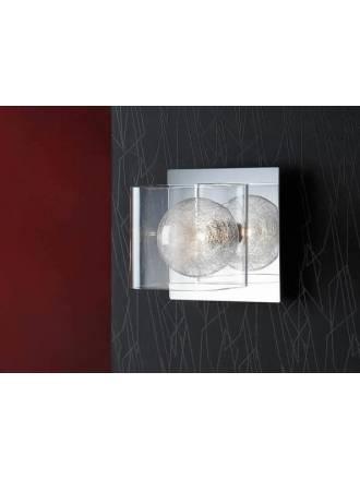 Aplique de pared Eclipse 1 luz cromo y cristal Schuller