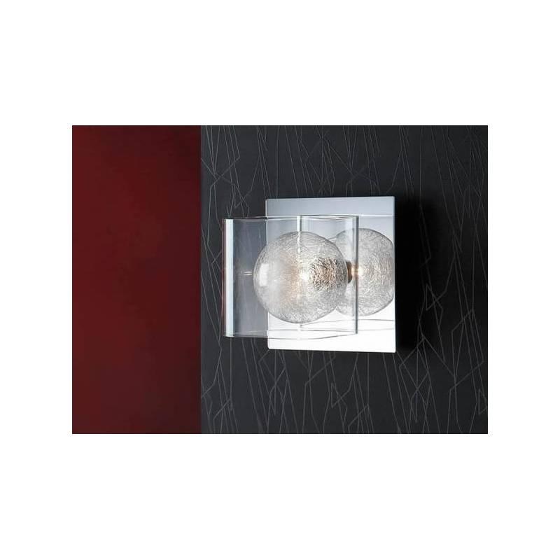 SCHULLER Eclipse wall lamp 1 light bright chrome