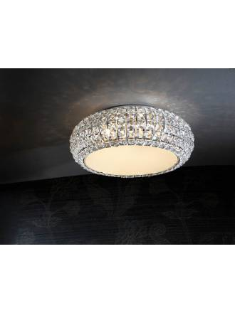SCHULLER Diamond small ceiling lamp 6 lights chrome