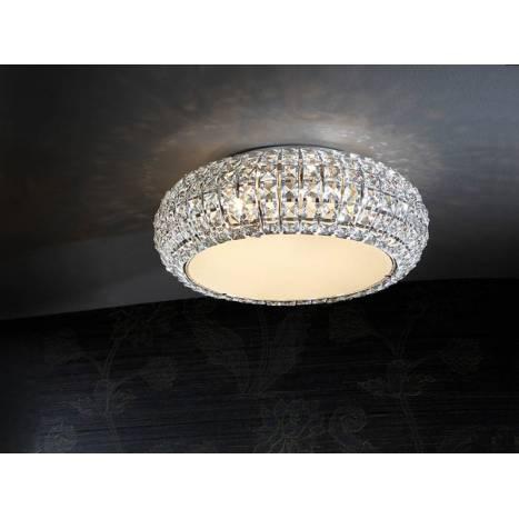 SCHULLER Diamond small ceiling lamp 6 lights chrome
