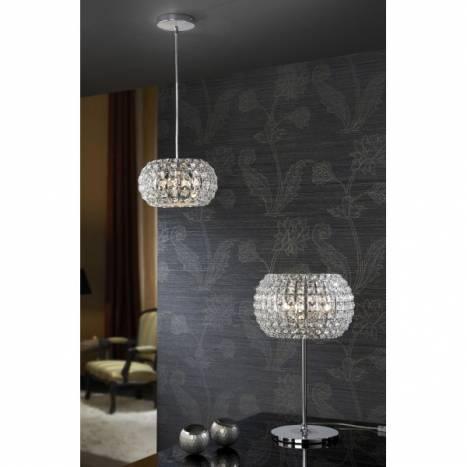 SCHULLER Diamond pendant lamp small 3 lights chrome
