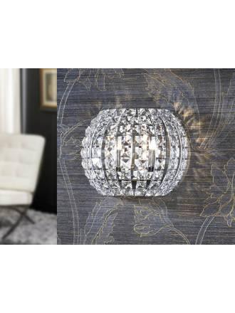 SCHULLER Diamond wall lamp 2 lights chrome