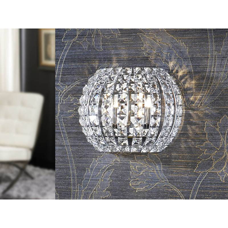 Aplique de pared Diamond 2 luces cristal de Schuller
