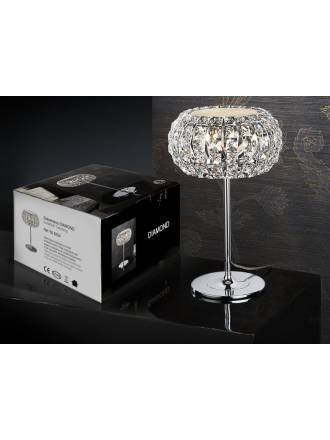 SCHULLER Diamond table lamp small 3 lights chrome