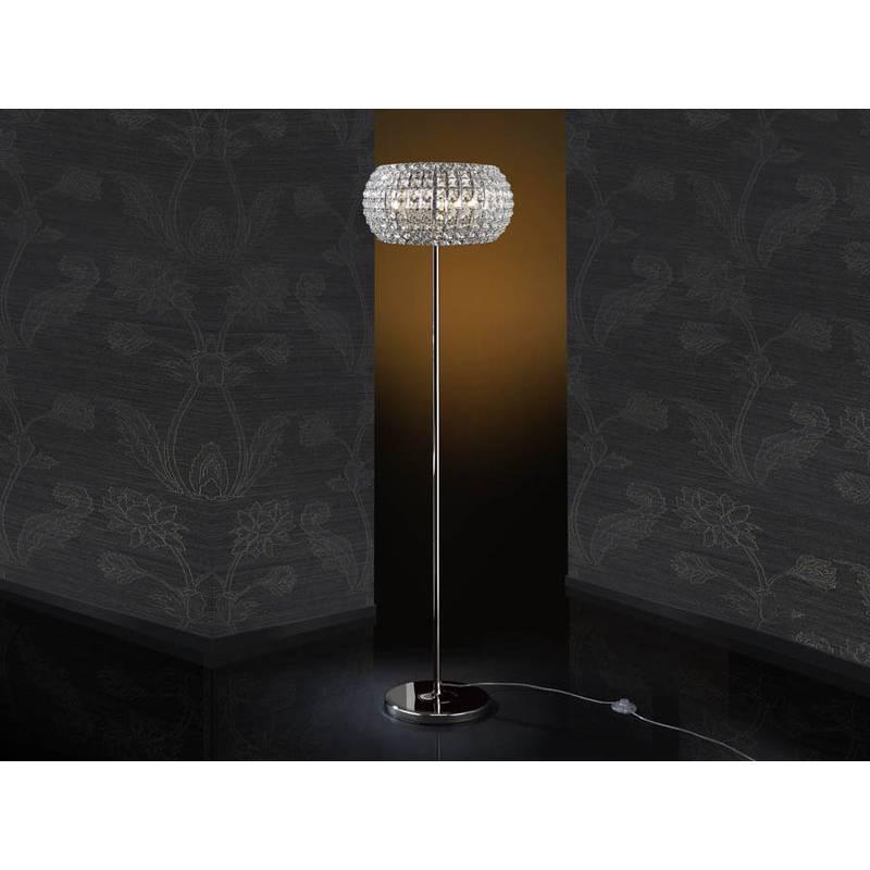 SCHULLER Diamond floor lamp 6 lights chrome