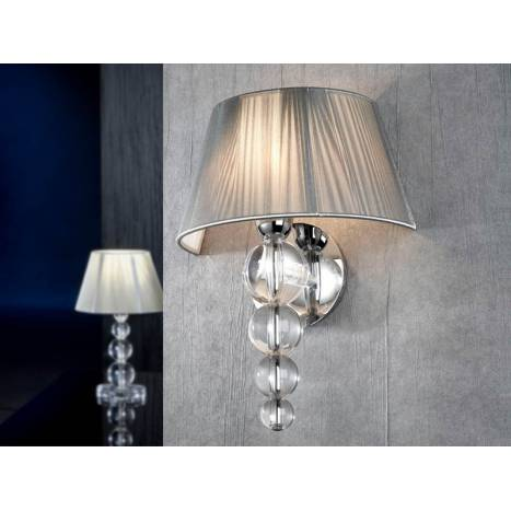 Schuller Mercury wall lamp 1 light transparent
