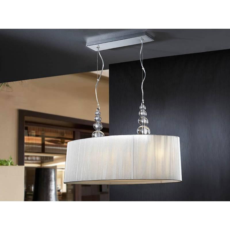 Schuller Mercury pendant lamp oval 4 lights transparent