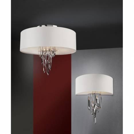 SCHULLER Domo ceiling lamp 4 lights white