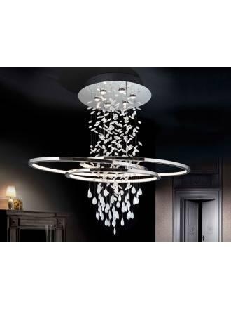 Lampara de techo Bruma LED cromo y cristal de Schuller