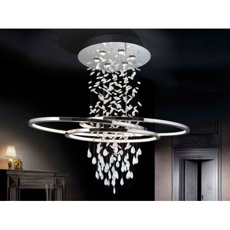 SCHULLER Bruma ceiling lamp Led chrome