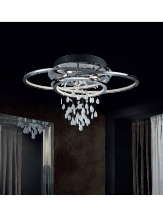 SCHULLER Bruma ceiling lamp Led chrome and glass