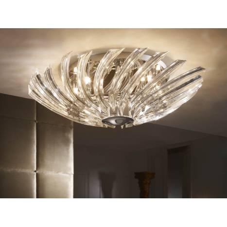 Plafon de techo Eloise 8 luces cristal Schuller