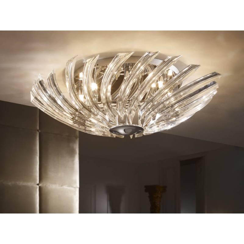 Schuller eloise ceiling lamp 8 lights bright chrome - Lamparas schuller ...