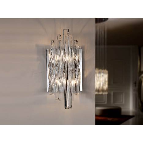 Aplique de pared Manacor 2 luces cristal transparente Schuller