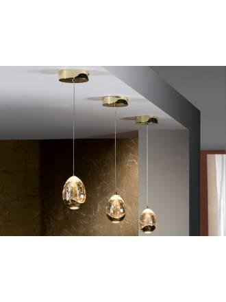 Lampara colgante Rocio 1 luz LED en dorado de Schuller