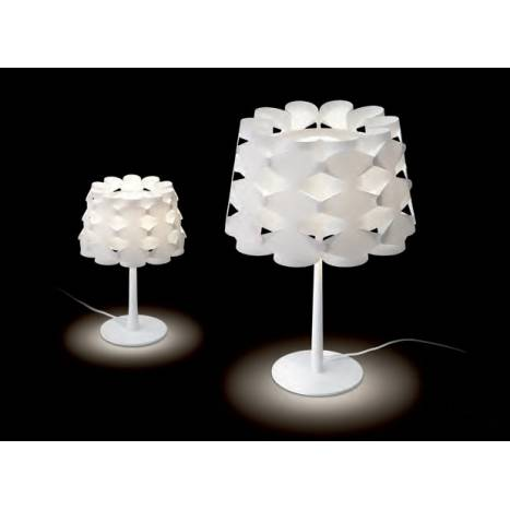 MASSMI Origami table lamp white fabric