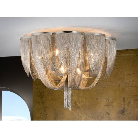 SCHULLER Minerva ceiling lamp 10 lights in cristal