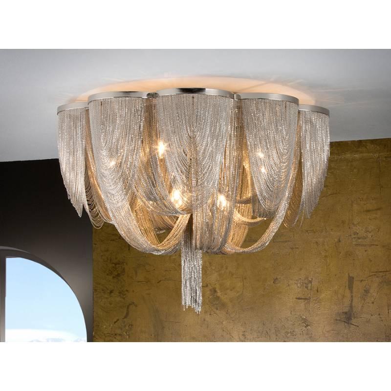 SCHULLER Minerva ceiling lamp 10 lights in cristal