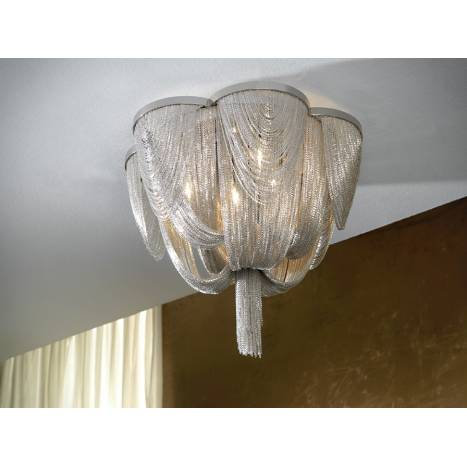 SCHULLER Minerva ceiling lamp 6 lights in cristal