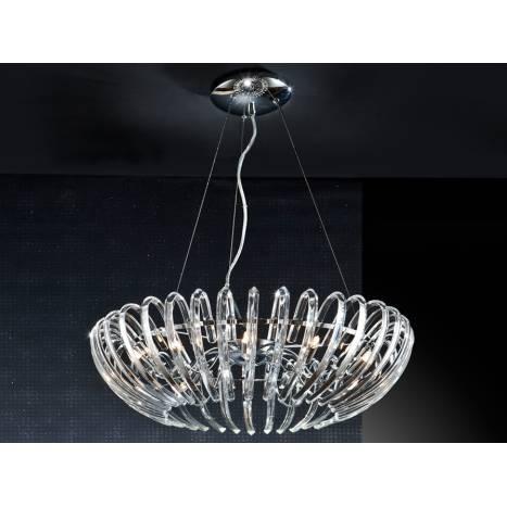 Lampara colgante Ariadna 12 luces cristal de Schuller