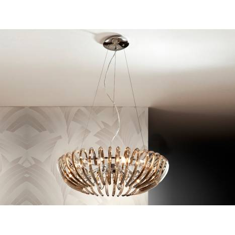 Schuller Ariadna pendant lamp 12 lights champagne