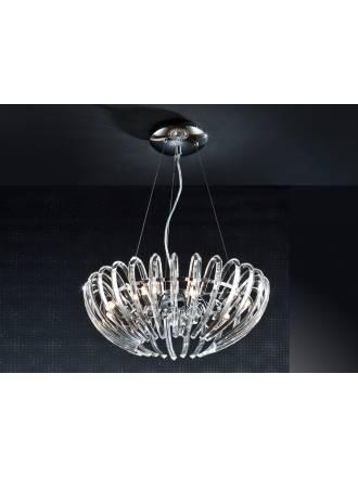 Lampara colgante Ariadna 9 luces cristal de Schuller