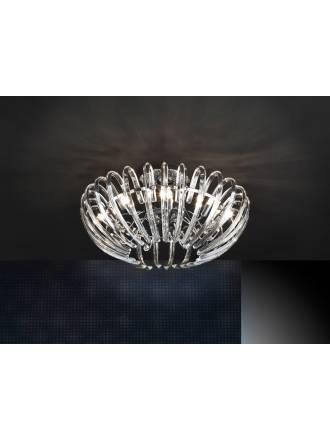 Lampara de techo Ariadna 9 luces cristal de Schuller