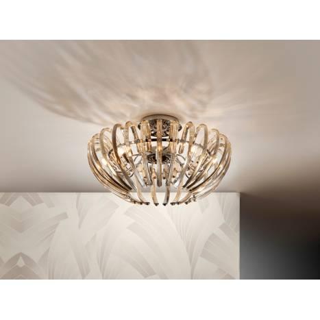Lampara de techo Ariadna 9 luces champagne de Schuller