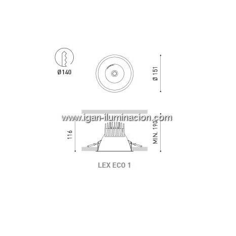 ARKOSLIGHT Lex Eco 1 recessed light LED 10w white
