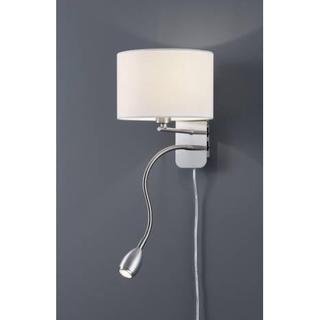Trio Texti wall lamp 2L E27 + LED white