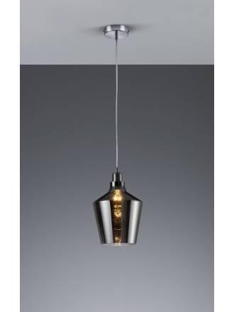 Trio Calais pendant lamp 1L smoke glass