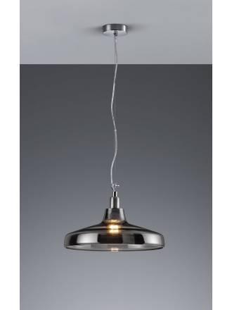 Lampara colgante Dover 1 luz en cristal humo de Trio