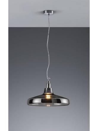 Trio Dover pendant lamp 1L smoke glass