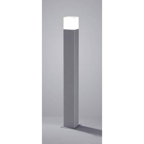 Lampara de pie Hudson LED 80cm aluminio gris