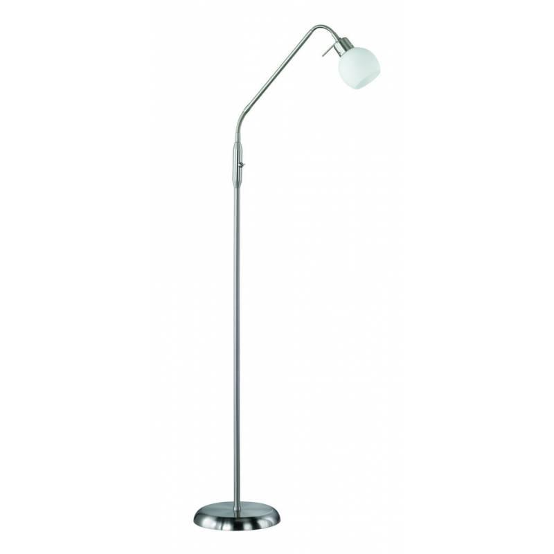 TRIO Ballu floor lamp 1L LED nickel and glass