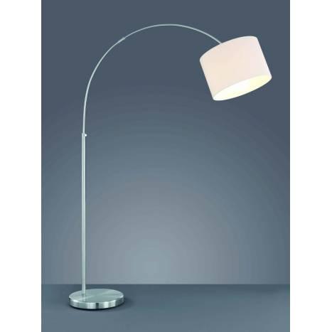 TRIO Texti floor lamp 1L nickel and white