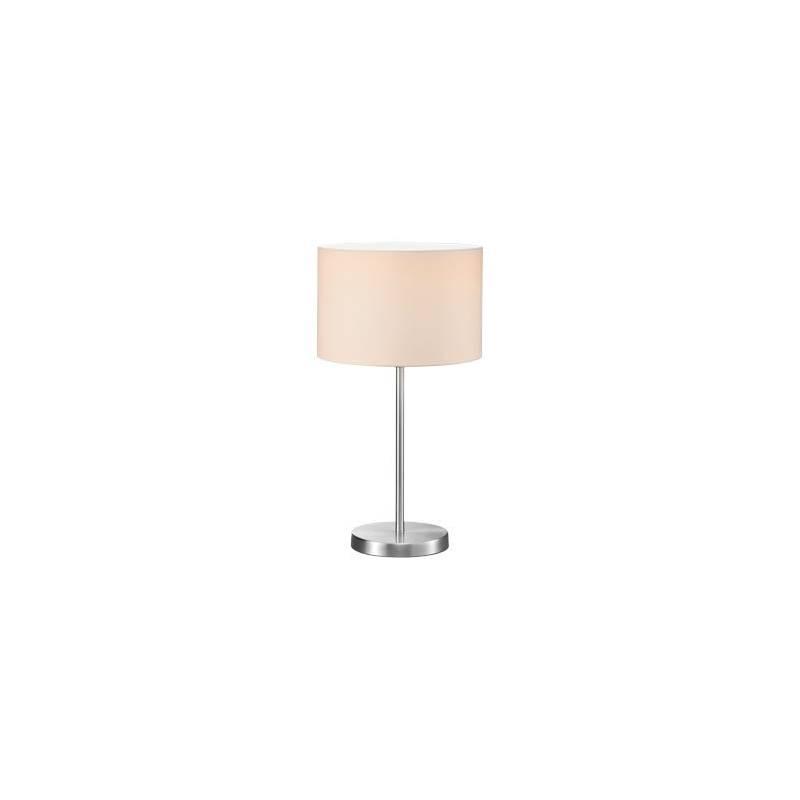 Trio Texti table lamp 1L nickel and white