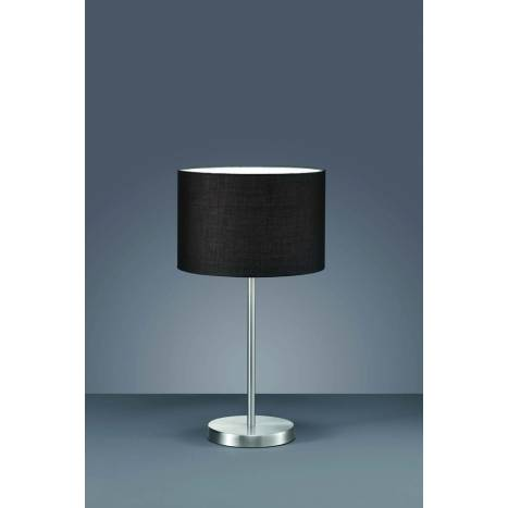 Trio Texti table lamp 1L nickel and black