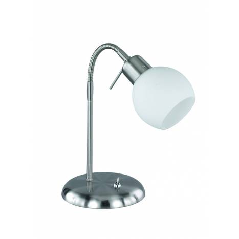 Trio Ballu table lamp 1L LED nickel and glass